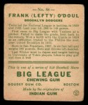 1933 Goudey #58  Lefty ODoul  Back Thumbnail