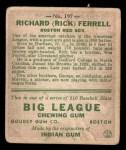 1933 Goudey #197  Rick Ferrell  Back Thumbnail