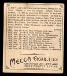 1910 T218 Champions #108  Jimmie Gardner  Back Thumbnail