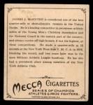 1910 T218 Champions #37  J.J. McEntee  Back Thumbnail
