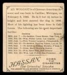1910 T218 Champions #153  Ad Wolgast  Back Thumbnail