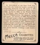 1910 T218 Champions #9 LEA C.M. Daniels  Back Thumbnail