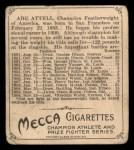 1910 T218 Champions #92  Abe Attell  Back Thumbnail