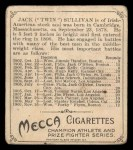1910 T218 Champions #145  Jack Sullivan  Back Thumbnail