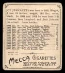 1910 T218 Champions #114  Joe Jeannette  Back Thumbnail