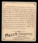 1910 T218 Champions #45  James Rector  Back Thumbnail