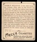 1910 T218 Champions #56  James P. Sullivan  Back Thumbnail