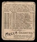1910 T218 Champions #128  Packey McFarland  Back Thumbnail