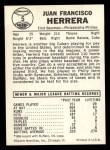 1960 Leaf #5  Pancho Herrera  Back Thumbnail