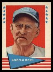 1961 Fleer #11  Mordecai Brown  Front Thumbnail