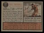 1962 Topps #451  Jose Tartabull  Back Thumbnail