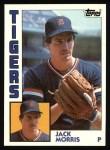 1984 Topps #195  Jack Morris  Front Thumbnail