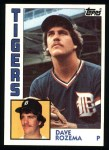 1984 Topps #457  Dave Rozema  Front Thumbnail