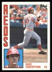 1984 Topps #55  Dave Concepcion  Front Thumbnail
