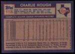 1984 Topps #118  Charlie Hough  Back Thumbnail