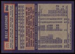1984 Topps #771  Billy Gardner  Back Thumbnail