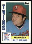 1984 Topps #771  Billy Gardner  Front Thumbnail