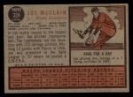 1962 Topps #324  Joe McClain  Back Thumbnail