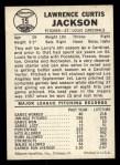 1960 Leaf #15  Larry Jackson  Back Thumbnail