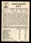 1960 Leaf #23 SML Joey Jay  Back Thumbnail