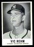 1960 Leaf #61 SML Vic Rehm  Front Thumbnail