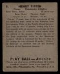 1939 Play Ball #8  Cotton Pippen  Back Thumbnail
