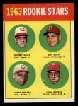 1963 Topps #29 COR  -  Sammy Ellis / Ray Culp / John Boozer / Jesse Gonder  Rookies Front Thumbnail