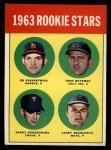 1963 Topps #386 CTR  -  Ed Kirkpatrick / John Bateman / Garry Roggenburk / Larry Bearnarth Rookies Front Thumbnail