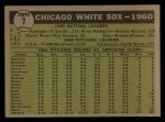 1961 Topps #7 ^YEL^  White Sox Team Back Thumbnail