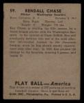 1939 Play Ball #59  Ken Chase  Back Thumbnail
