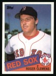 1985 Topps #181  Roger Clemens  Front Thumbnail