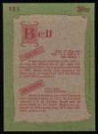 1985 Topps #131  Buddy Bell / Gus Bell  Back Thumbnail
