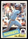 1985 Topps #449  Phil Bradley  Front Thumbnail
