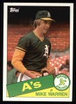 1985 Topps #197  Mike Warren  Front Thumbnail