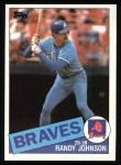 1985 Topps #458  Randy Johnson  Front Thumbnail