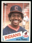 1985 Topps #237  Julio Franco  Front Thumbnail