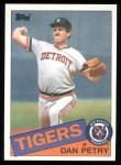 1985 Topps #435  Dan Petry  Front Thumbnail