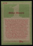 1985 Topps #279  Mike Moore  Back Thumbnail