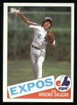 1985 Topps #154  Argenis Salazar  Front Thumbnail