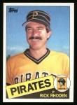 1985 Topps #695  Rick Rhoden  Front Thumbnail
