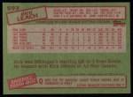 1985 Topps #593  Rick Leach  Back Thumbnail