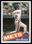 1985 Topps #598  Jose Oquendo  Front Thumbnail