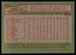 1985 Topps #483  Mike Smithson  Back Thumbnail