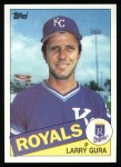 1985 Topps #595  Larry Gura  Front Thumbnail