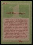 1985 Topps #272  Jeff Burroughs  Back Thumbnail