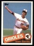 1985 Topps #199  Dennis Martinez  Front Thumbnail