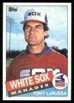 1985 Topps #466  Tony La Russa  Front Thumbnail