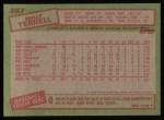1985 Topps #287  Walt Terrell  Back Thumbnail