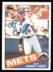 1985 Topps #339  Danny Heep  Front Thumbnail