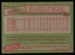 1985 Topps #641  Rod Scurry  Back Thumbnail